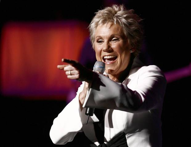 Canadian singing icon Anne Murray performs at the Sony Centre in Toronto, Friday, April 25, 2008