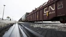 A CN train derailed near Fort Frances, Ont. (Christinne Muschi For The Globe and Mail)