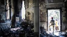 The Rabaah al-Adaqiya mosque was heavily damaged in the clashes; so too were Coptic churches throughout Egypt. (BRYAN DENTON/NYT)