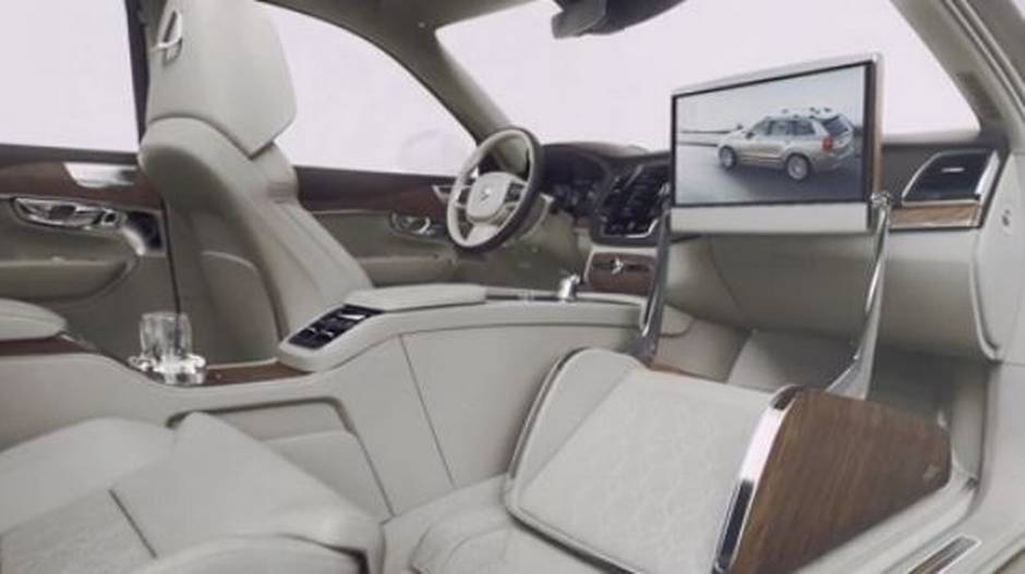 volvo reveals new super luxurious car without front passenger seat the globe and mail. Black Bedroom Furniture Sets. Home Design Ideas