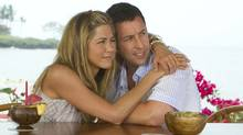 "Thirty bucks for this?! Adam Sandler and Jennifer Aniston in a scene from ""Just Go With It"" (Tracy Bennett/Columbia Pictures)"