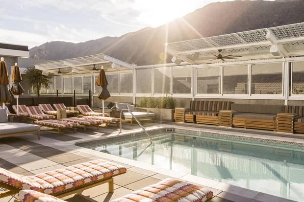 Kimpton Rowan Palm Springs Hotel in Palm Springs. Rooftop pool.
