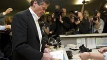 John Tory files his papers at City Hall on Feb. 24, 2014, to officially join the Toronto mayoral race. (Kevin Van Paassen/The Globe and Mail)