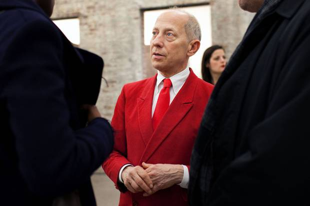 Knight Landesman attends an art exhibition opening in New York on Dec. 16, 2011.