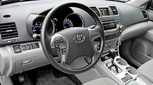 Inside the 2011 Toyota Highlander Hybrid .