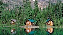 Cabins along Lake O'Hara in Yoho National Park in British Columbia. (CP)