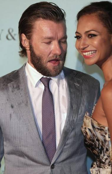 Hey, Joel Edgerton at the premiere of The Great Gatsby in Sydney, Australia, last week: That's not where Alexis Blake's eyes are. What are you – some kind of perverted European film director? (Rick Rycroft/AP)