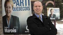 Coalition Avenir du Quebec candidate Patrice Charbonneau, shown in his Saint-Jerome riding, says he is confident as he faces PQ candidate Pierre Karl Peladeau in the upcoming election Tuesday, March 11, 2014 in Saint-Jerome, Que. (Ryan Remiorz/THE CANADIAN PRESS)
