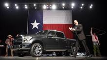 The Ford F-150 now has an aluminum alloy body – blasphemous perhaps, but better on fuel consumption. (Tom Fox/AP)