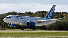 Bombardier has agreed to sell 15 C-series aircraft, with an option for 15 more, to a Chinese aircraft lessor. (Ryan Remiorz/The Canadian Press)