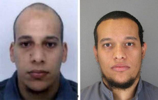 Chérif and Said Kouachi are shown in photos provided by the Paris Police Prefecture on Jan. 8, 2015.