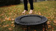 A rebounder is essentially a mini-trampoline. (Moe Doiron/The Globe and Mail/Moe Doiron/The Globe and Mail)