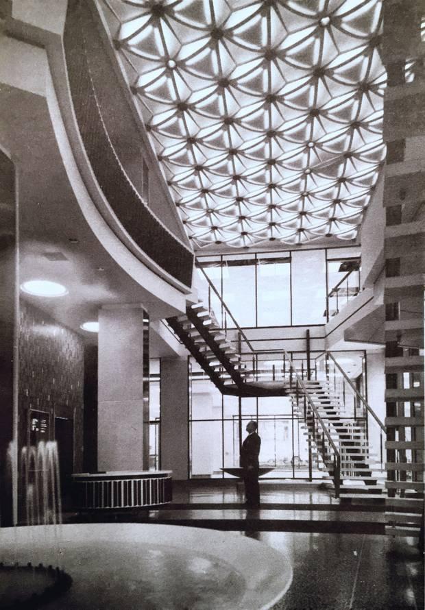 The original lobby of 123 Edward St., Toronto, designed by architect Eugene Janiss.
