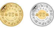 Commemorative Coin: The Royal Canadian Mint has unveiled commemorative coins honouring the birth of Prince George, which feature the initials of his parents William and Catherine, the Duke and Duchess of Cambridge. The front of the $5-piece features children's toys, while a British-style pram decorates the back of the 25-cent coin.