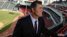 New Red Sox manager John Farrell smiles after meeting with fans after being introduced as the new manager of the club at a news conference at Fenway Park in Boston, Massachusetts October 23, 2012. (JESSICA RINALDI/Reuters)