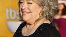 Kathy Bates arrives at the 18th annual Screen Actors Guild Awards in Los Angeles, California in this file photo taken January 29, 2012. Bates said on Wednesday she had undergone a double mastectomy after being diagnosed with breast cancer, nine years after a bout with ovarian cancer. (Reuters)