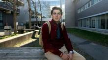 Russell Baylis is an information technology student taking a joint course at Algonquin college and at Carleton University. (Dave Chan/The Globe and Mail)