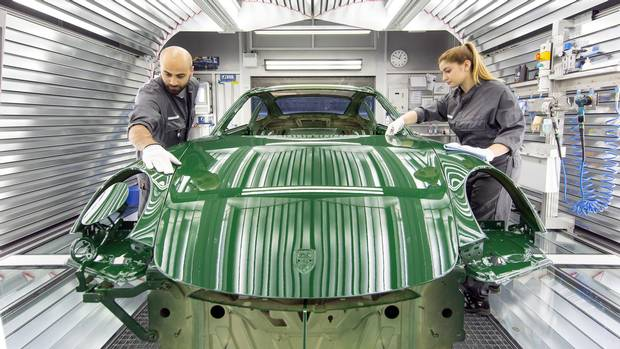 The one-millionth Porsche 911 in production.