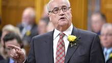 Veterans Affairs Minister Julian Fantino responds during Question Period in the House of Commons on Parliament Hill in Ottawa, Wednesday May 14, 2014 . (Adrian Wyld/THE CANADIAN PRESS)
