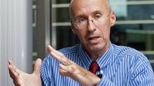 Parliamentary budget officer Kevin Page speaks during an interview at his Ottawa office on Aug. 9, 2010. (Sean Kilpatrick/THE CANADIAN PRESS)