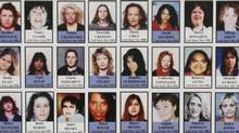 Detail of a poster with photographs of missing women is displayed during the Missing Women Commission of Inquiry public forum in Vancouver, B.C., on Wednesday January 19, 2011. (Darryl Dyck/ The Canadian Press/Darryl Dyck/ The Canadian Press)