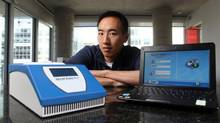 CEO Paul Lem poses says the Spartan RX, said is the first device anywhere that allows almost immediate genetic testing. (Dave Chan For The Globe and Mail)