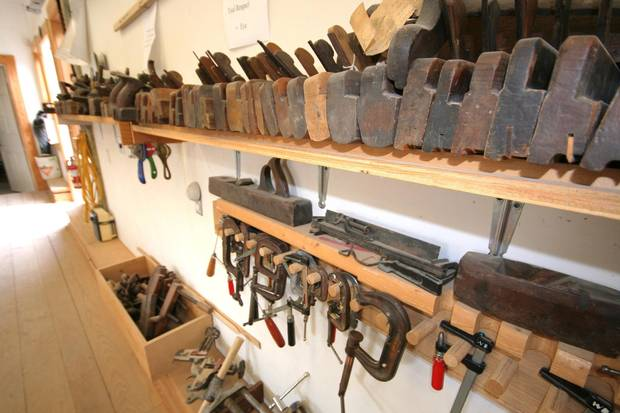 The school's woodshop. Students learn old skills that aren't taught anywhere else.