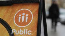 Public Mobile store on Wellesley St in Toronto. (Fernando Morales/The Globe and Mail)