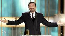 Host Ricky Gervais speaks at the 68th annual Golden Globes Awards in Beverly Hills, California January 16, 2011. (Reuters)