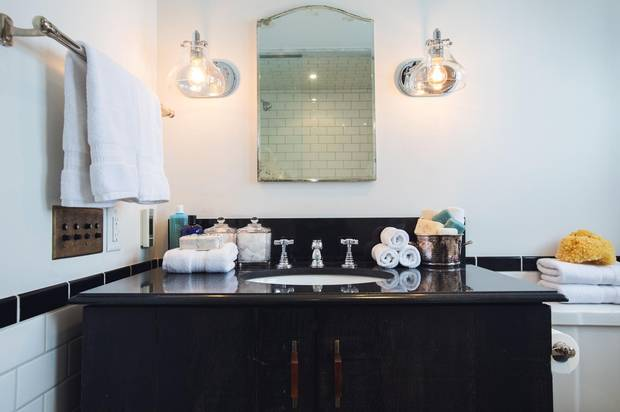 The third-floor bathroom in lawyer Kim Schofield's Parkdale home.