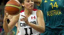 Natalie Achonwa scored 11 points is Canada's women's basketball team beat Puerto Rico 73-48 at the FIBA America's basketball tournament in Xalapa, Mexico on Friday. (KEVIN VAN PAASSEN/THE GLOBE AND MAIL)