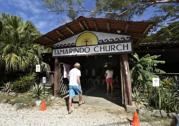 A local church just outside Tamarindo, Costa Rica, Jan 15 2017.