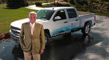 Bob Lutz is chairman of VIA Motors, which manufactures the Vtrux electrified pickups.