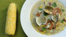 Corn and clam chowder (Fred Lum/The Globe and Mail)