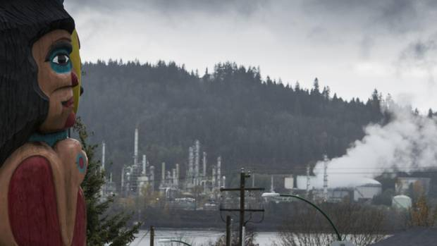 Chevron Canada's Burnaby Refinery as seen from the Tsleil-Waututh Nation.