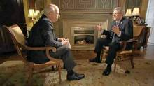 Peter Mansbridge interviews Stephen Harper. Part 1 aired Jan. 17, 2011. (CBC/CBC)