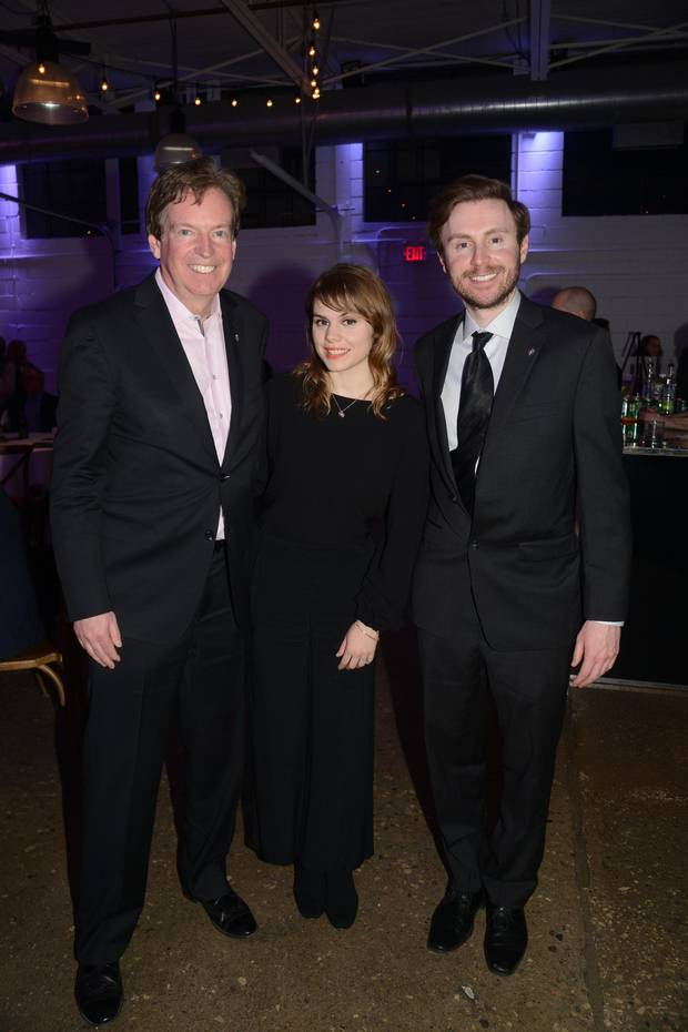 RCGS CEO John Geiger with singer-songwriter Béatrice Martin and explorer Adam Shoalts.