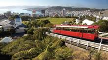 Ride the Kelburn Hill cable car for good views of Wellington. (Tourism New Zealand)
