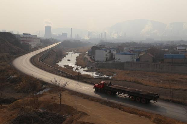 Songting, a village 200 km east of Beijing, became the 'birthplace of Beijing's smog' after industrial operations were moved there in an effort to give the capital's air a reprieve for the Olympics.