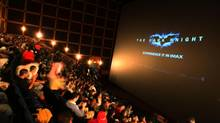 A movie being shown at the Chicago Navy Pier IMAX Theatre. Near-term concern over Imax's big push into China has attracted U.S. short-sellers to the stock. (TASOS KATOPODIS/HANDOUT FROM IMAX CORP.)