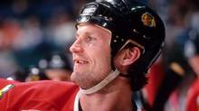 Bob Probert of the Chicago Blackhawks played in 16 NHL seasons and had as many as 200 fights during that time. (B Bennett/B Bennett/Getty Images)