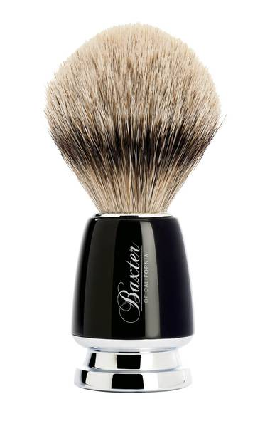 Shaving grace: A fluffy badger brush lifts stubble away from the skin, making his morning shave smooth and irritation-free. Baxter of California Badger Silver Tip shave brush, $115 at select retailers across Canada (visit www.baxterofcalifornia.com for locations).
