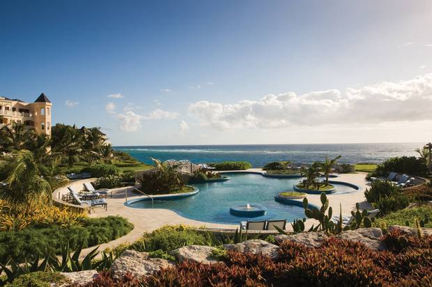 The pool complex at The Crane in Barbados.