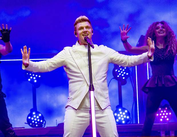 July 9, 2017: Nick Carter of the Backstreet Boys performs in Quebec City.