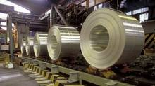 Finished coils of aluminum. Alcoa's smelters at Baie-Comeau, Deschambault and Bécancour in Quebec will be modernized under a $2.1-billion upgrade, the company has announced. (AFP/Getty Images/AFP/Getty Images)
