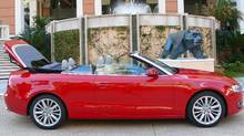 The fabric top on the 2010 A5 Cabriolet keeps the weight down and the cargo space up. (PETRINA GENTILE FOR THE GLOBE AND MAIL)