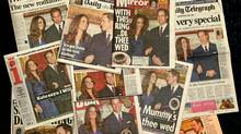 The front pages of British national newspapers feature news of the engagement of Prince William and Kate Middleton on November 17, 2010 in London, England. (Oli Scarff/Getty Images)