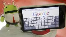 An Android smartphone displays the Google website in this picture illustration in Seoul September 7, 2011. (© Truth Leem / Reuters/Truth Leem/REUTERS)