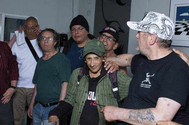DUDES Club bi-monthly meeting in Vancouver's Downtown Eastside, May 12, 2016.