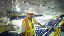 Barry Burnett, construction manager for Maple Leaf Gardens, says this project has been the highlight of his career. (Kevin Van Paassen/The Globe and Mail)